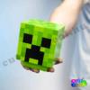 Minecraft Creeper head lámpa