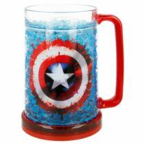 Marvel-Amerika Kapitány hűsítő zselés korsó