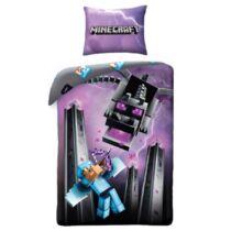 Minecraftos prémium pamut ágyneműhuzat VégzetSárkánnyal és Steve-vel