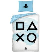 PlayStation ágyneműhuzat fehér-kék kontrolleres