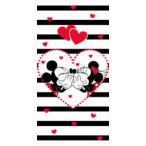 Minnie & Mickey strand törölköző, fürdőlepedő - Pamut