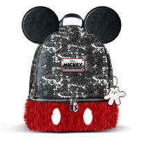 Mickey Mouse flitteres-szőrmés hátizsák