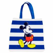 Mickey Mouse kék-fehér csíkos bevásárló táska