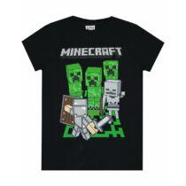 Minecraft Steve és a Creeperek Harca Póló