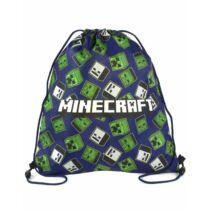Minecraft kék húzózsinóros tornazsák