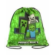 Minecraft zöld húzózsinóros tornazsák
