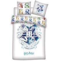 Harry Potter kék címeres ágyneműhuzat - Pamut