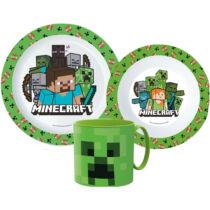 Minecraft Creeper műanyag étkészlet