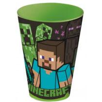 Minecraft Steve és mobok műanyag pohár 430ml