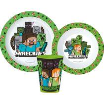 Minecraft Steve&Alex műanyag étkészlet