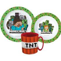 Minecraft műanyag étkészlet