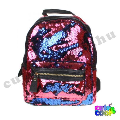Simi flitteres hátizsák málna-kék