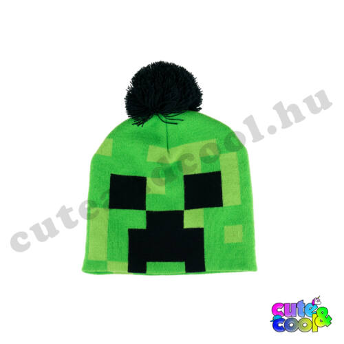 Minecraft zöld Creeper bojtos sapka