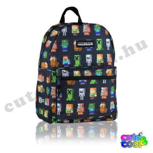 Minecraft fekete cuki karakteres táska