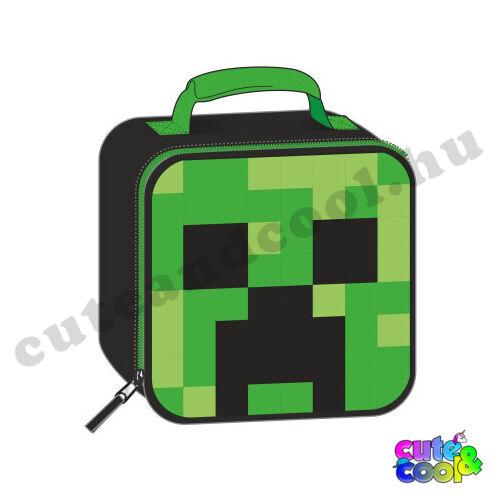 Minecraft fénylő Creeper uzsonnás táska