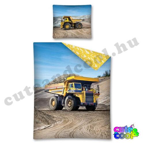 Dömper sárga ágyneműhuzat - Pamut