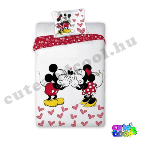 Minnie and Mickey Mouse Kissing ágyneműhuzat - Pamut