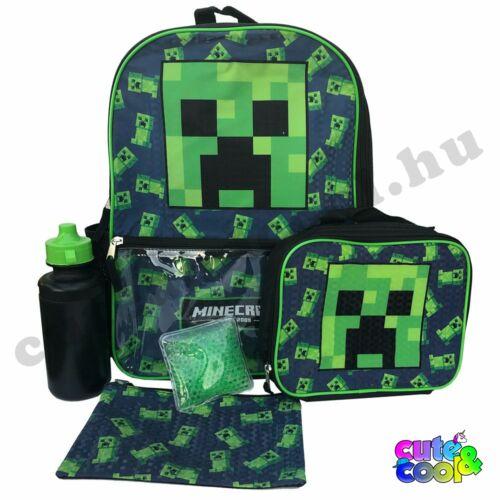 Minecraft kék Creeper 5 darabos Iskolatáska szett