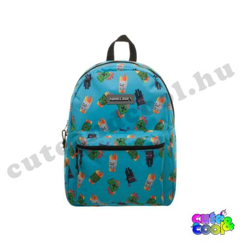 Minecraft kék hátizsák, iskolatáska