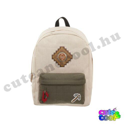 Minecraft bézs színű hátizsák, táska
