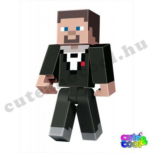 Minecraft Öltönyös Steve műanyag figura 21cm