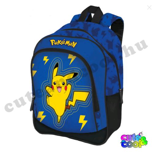 Pokémon Pikachu kék hátizsák-iskolatáska