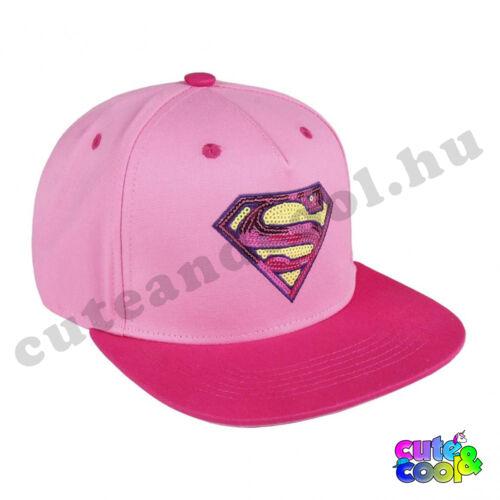 Superman női flitteres pink snapback sapka