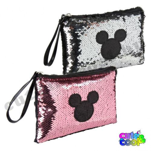 Mickey Mouse simi flitteres neszeszer-fekete,szürke