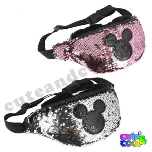 Mickey Mouse simi flitteres övtáska fekete - ezüst