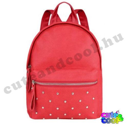 Női műbőr hátizsák - piros