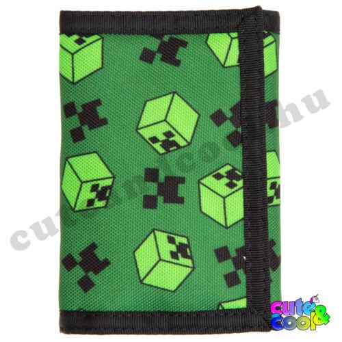 Minecraft fekete-zöld Creeper pénztárca