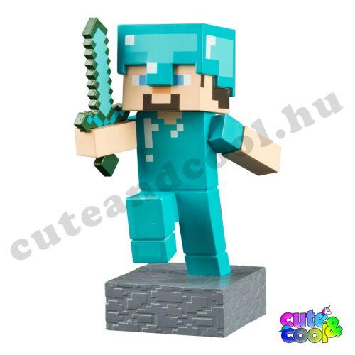 Minecraft Adventure Gyémánt Steve figura 10cm