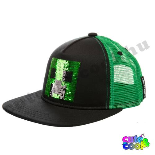 Minecraft simizős Creeper baseball / snapback sapka