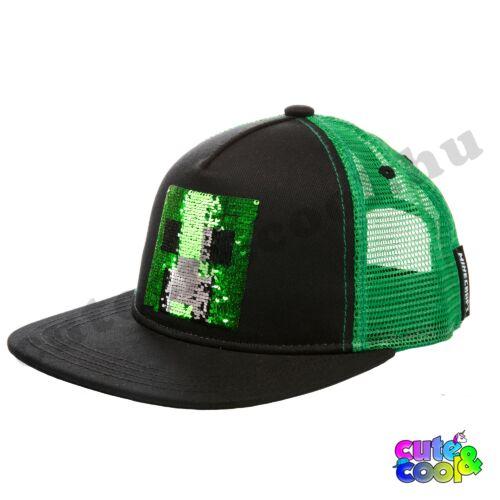 Minecraft simizős Creeper baseball / snapback sapka