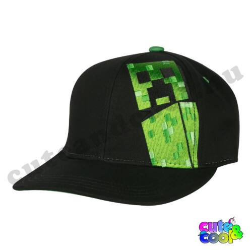 Minecraft fekete Creeper-es baseball sapka