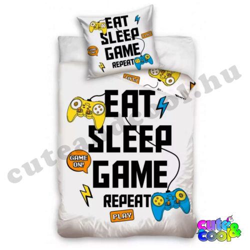 Gamer Repeat ágyneműhuzat - Pamut