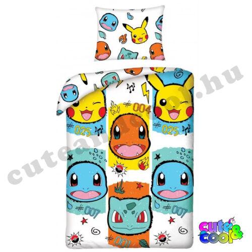 Pokémon Pikachu Bulbasaur Charmander ágyneműhuzat - Pamut