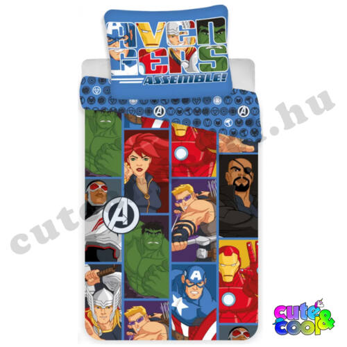 Marvel Avengers képregény mintás ágyneműhuzat