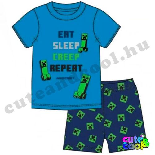 Minecraft Eat-Sleep-Creep-Create rövid pizsama