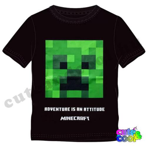 Minecraft fekete Creeper rövid ujjú póló