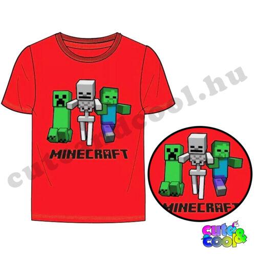 Minecraft mobok piros póló