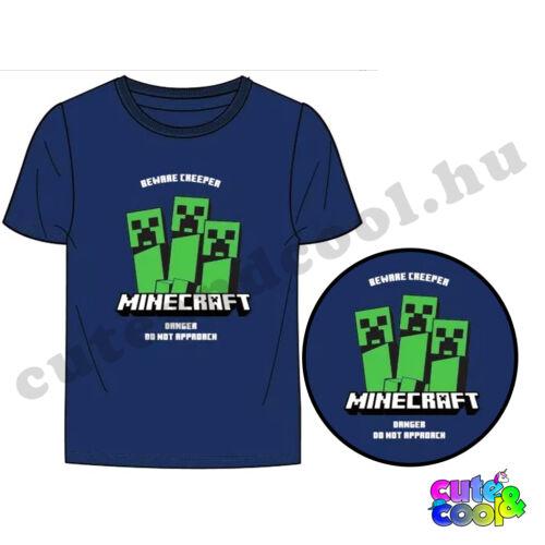 Minecraft óvakodj a Creeper-től sötétkék póló