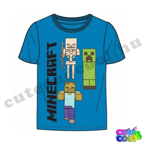 Minecraft Szörnyek kék póló