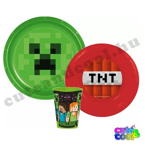 Minecraft TNT&Creeper műanyag étkészlet