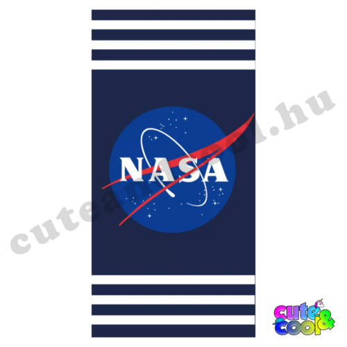 NASA sötétkék csíkos törölköző
