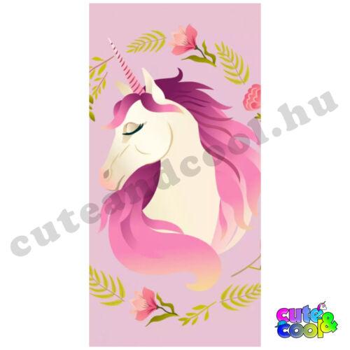 Rózsaszín Unikornis fürdőlepedő