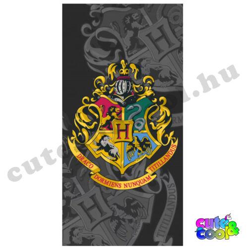 Harry Potter Roxfort fekete strand törölköző - Pamut