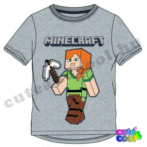Minecraft szürke Alex póló