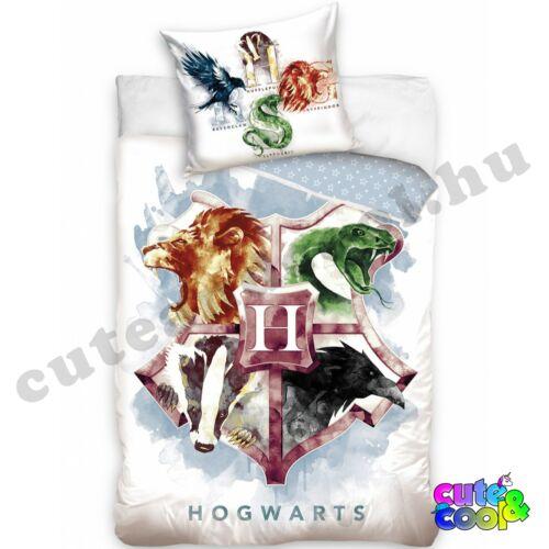 Harry Potter fehér Hogwarts ágyneműhuzat - Pamut