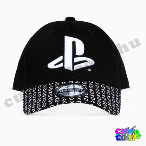PlayStation controller ikonos fekete baseball sapka